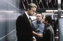 Michael Winterbottom directs Tim Robbins & Samantha Morton in Code 46, Photo by Peter Mountain, courtesy of United Artists.