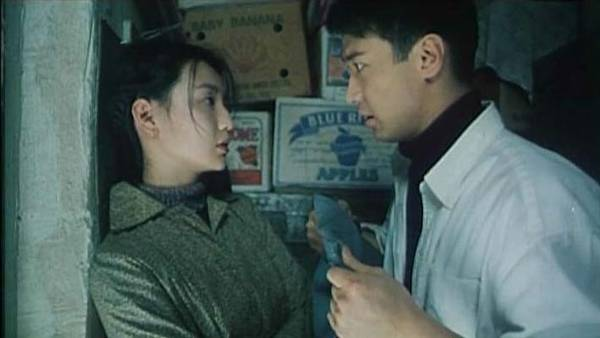 Maggie Cheung and Leon Lai in one of the most affecting scenes from Comrades – Almost a Love Story