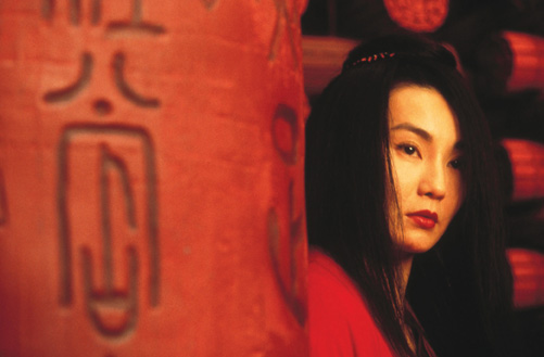 Maggie Cheung as .. in the red sequence
