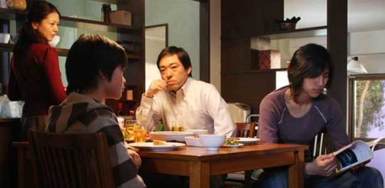 The 'disturbed' composition of the dysfunctional family in Tokyo Sonata