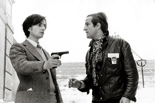 Léaud and Truffaut in La nuit americaine