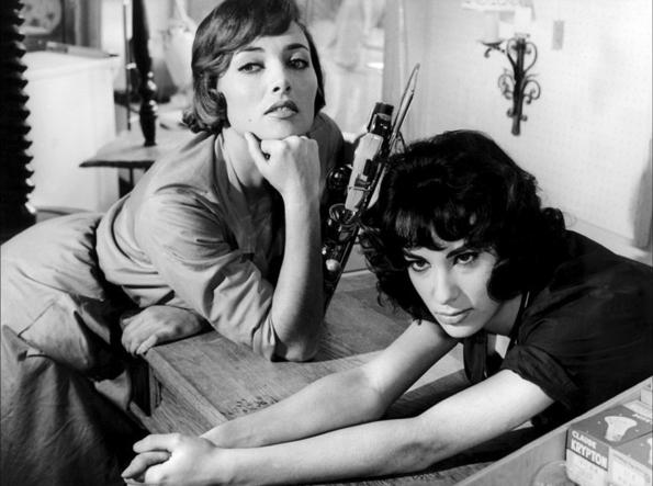 Stéphane Audran and Bernadette Lafont in Les bonnes femmes