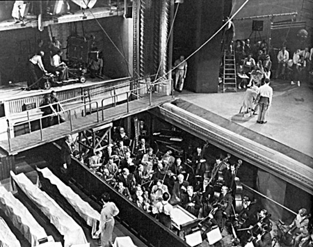 The Red Shoes set for the Covent Garden sequence.