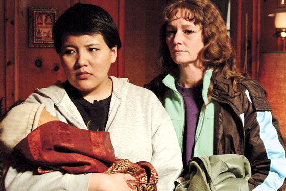 Misty Upham and Melissa Leo in Frozen River.