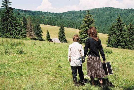 Katalin and Boran in the Carpathians