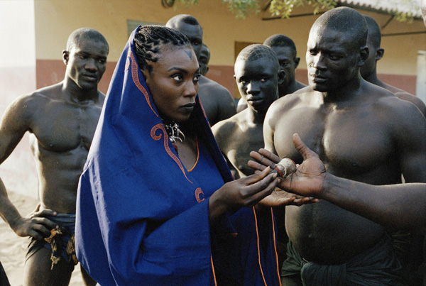 Alluring and african women nude wrestlers
