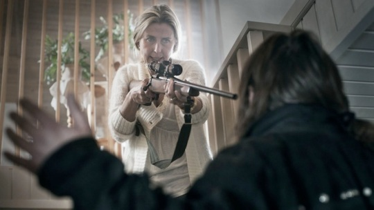 Everyone has access to a rifle – Annika Nordin as Karin