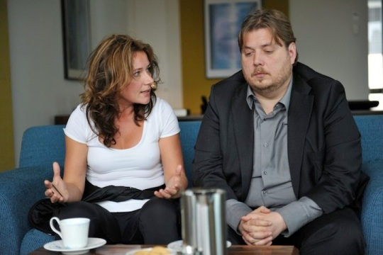 Anne (Sidse Babett Knudsen) and Ask (Nicolas Bro) at their counselling session in Above the Street, Below the Water.