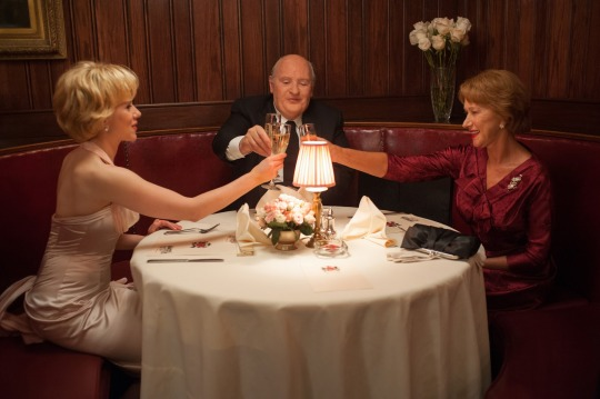 Anthony Hopkins as Hitchcock and Helen Mirren as Alma Reville welcome Scarlet Johannsen (as Janet Leigh) to the cast of Psycho.