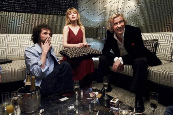 Steve Coogan (right) with Imogen Poots and Chris Addison