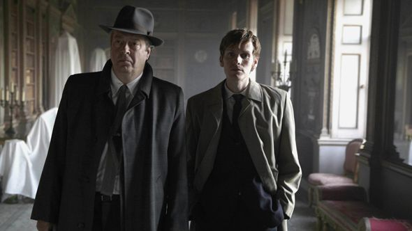 Roger Allam (in the hat) and Shaun Evans in Endeavour