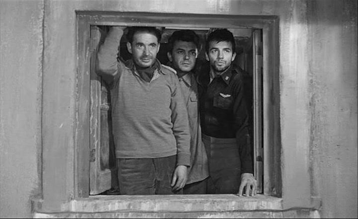 The three POWs (from left) Leo Genn, Sergei Bondarchuck and Peter Bradley