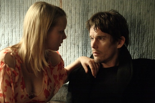 Ethan Hawke sans specs for once with Joanna Kulig.