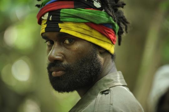 Rebel leader Alphonse Dianou played by Iabe Lapacas