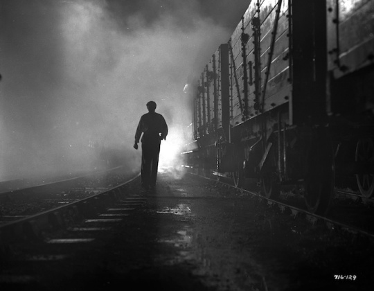 A classic noir image from IT ALWAYS RAINS ON SUNDAY (1947). Photo courtesy of Rialto Pictures.