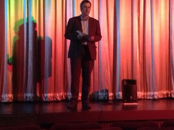 Bob Thorp of Keighley Film Club introduces the programme