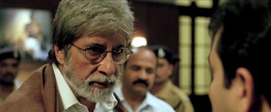 Amitabh Bachchan as the Gandhi-type figure in 'Satyagraha'