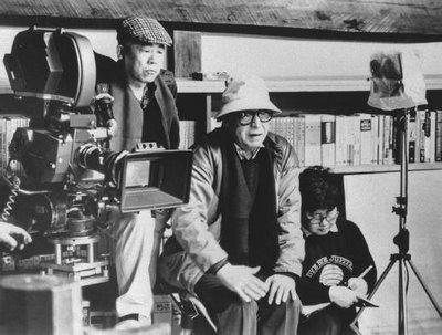 Kobayashi Masaki - centre of group, on set.
