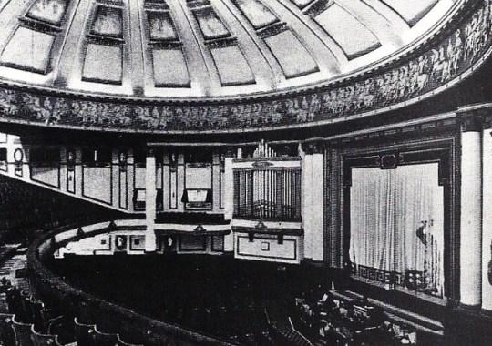 The Majestic interior as a cinema.