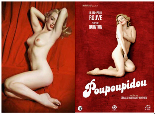 Marilyn Munroe, Playboy photograph 1953, and Poupoupidou DVD cover