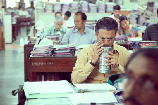 Irrfan Khan with the titular tiffin tin!