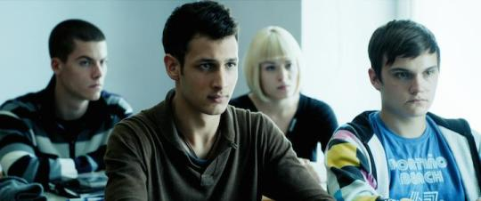 Some of the students. Luka (second left) is the instigator of the rebellion. (Triglav Films)