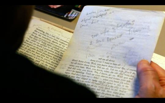 A Joycean palimpsest – a text with textual amendments, notes, embellishments, a text upon a text.