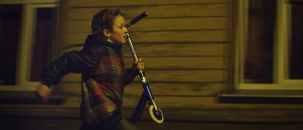Raimonds runs the nighttime streets of Riga