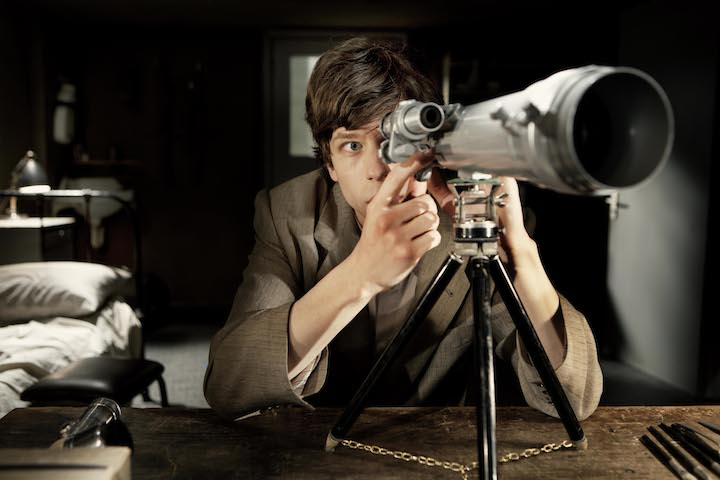 Jesse Eisenberg channels his inner Jimmy Stewart in THE DOUBLE