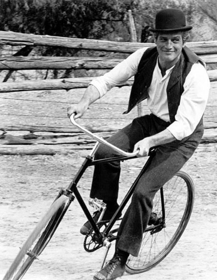 Paul Newman in BUTCH CASSIDY & the SUNDANCE KID (d. George Roy Hill, 1969)