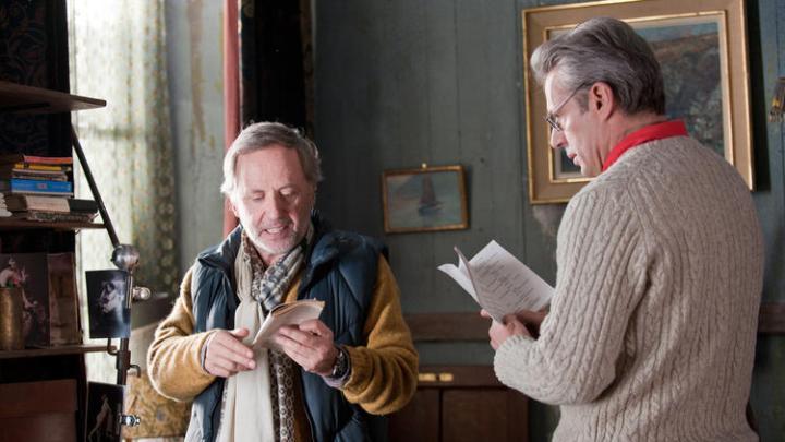 Serge (Fabrice Luchini, left) and Gauthier (Lambert Wilson) rehearse