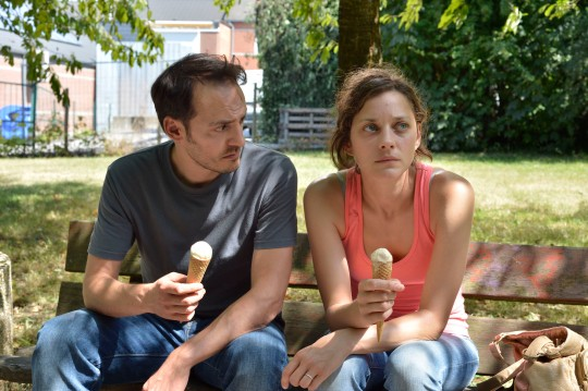 Fabrizio Rongione and Marion Cotillard as the husband and wife at the centre of Two Days One Night