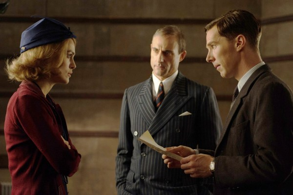 Joan Clark (Keira Knightley), Stuart Menzies (Mark Strong) and Alan Turing (Benedict Cumberbatch)
