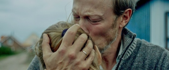 Lars Mikkelson as the father with his daughter Marie