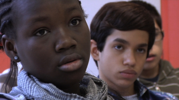 Close-ups are a feature of the coverage of the students in the classroom. Photo courtesy New Wave Films.