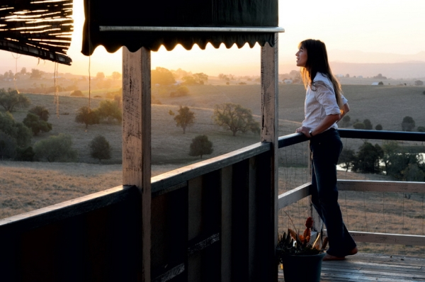 Charlotte Gainsbourg is Dawn, posed here against one of many beautiful landscapes