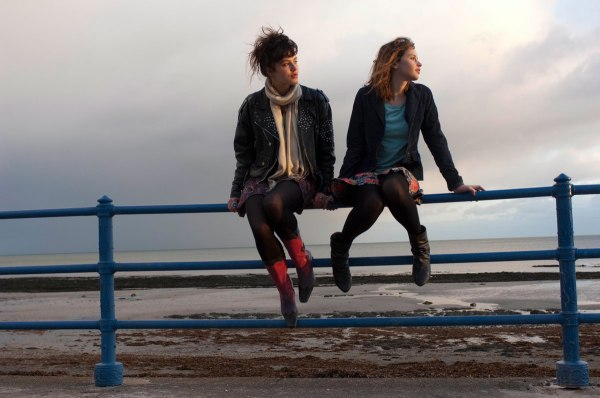 Jessica Brown Findlay (Emelia) and Felicity Jones (Beth) in a promotional still for ALBATROSS.