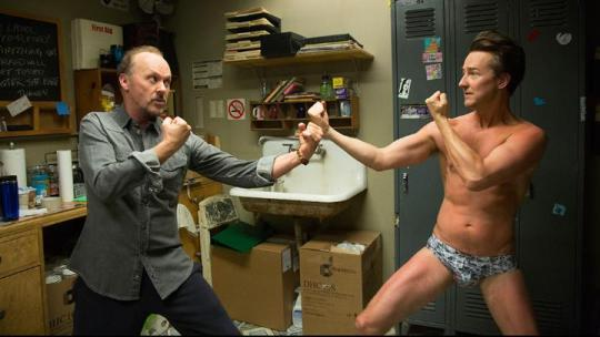 Two worlds – and underpants – collide in 'Birdman' 2014