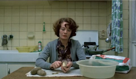 Inscrutable faces of domestic labour? Akerman's Jeanne and Zvyagintsev's Elena.
