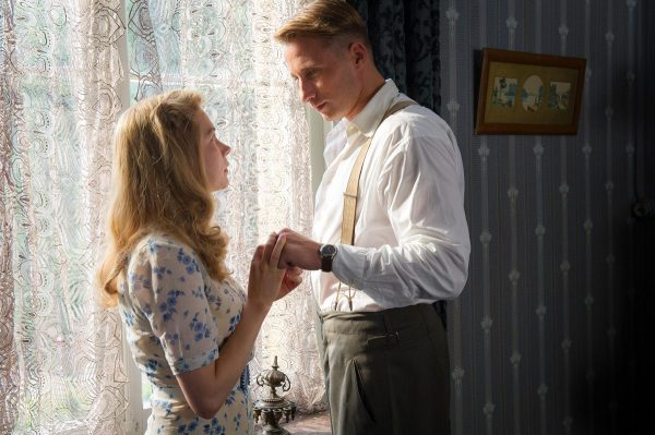 Michelle Williams as Lucile and Matthias Schoenaerts as Bruno.