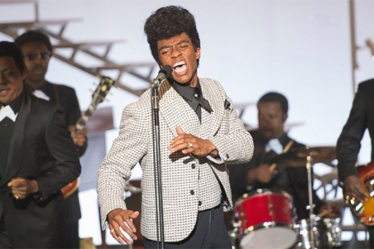 Chadwick Boseman as James Brown early in his career