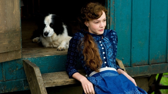 Carey Mulligan as Bathsheba  with Gabriel Oak's dog