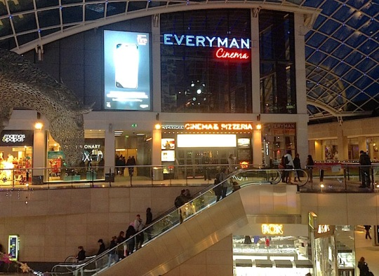 The Everyman in  the Trinity Shopping Centre in Leeds – a cinema or a pizzeria?