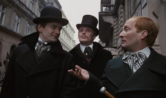 (from left) Max (Andrzej Seweryn), Karol (Daniel Olbrychski) and Moryc (Wojciech Pszoniak)