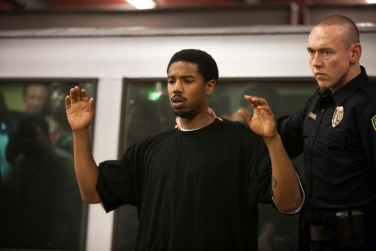 This publicity photo released by The Weinstein Company shows Michael B. Jordan, left, and Kevin Durand, right, in a scene from the film,