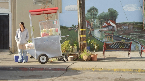 Juana can see that there isn't much future in her fruit cart business . . .
