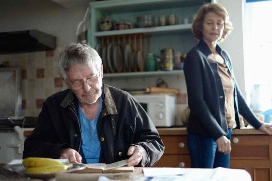 Geoff (Tom Courtenay) and Kate (Charlotte Rampling). This still uses shallow focus as do several cenes in the film.