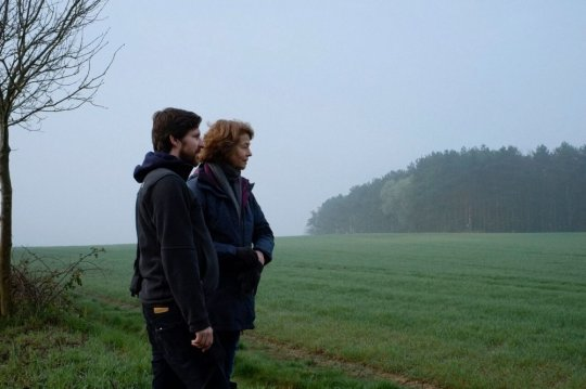 The environment 2: Charlotte Rampling with Andrew Haigh on location for her morning walks across the fields (in LS/long takes)