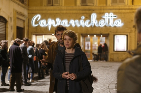 Giovanni and Margherita and the cinema queue.