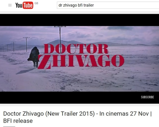 Zhivago trailer